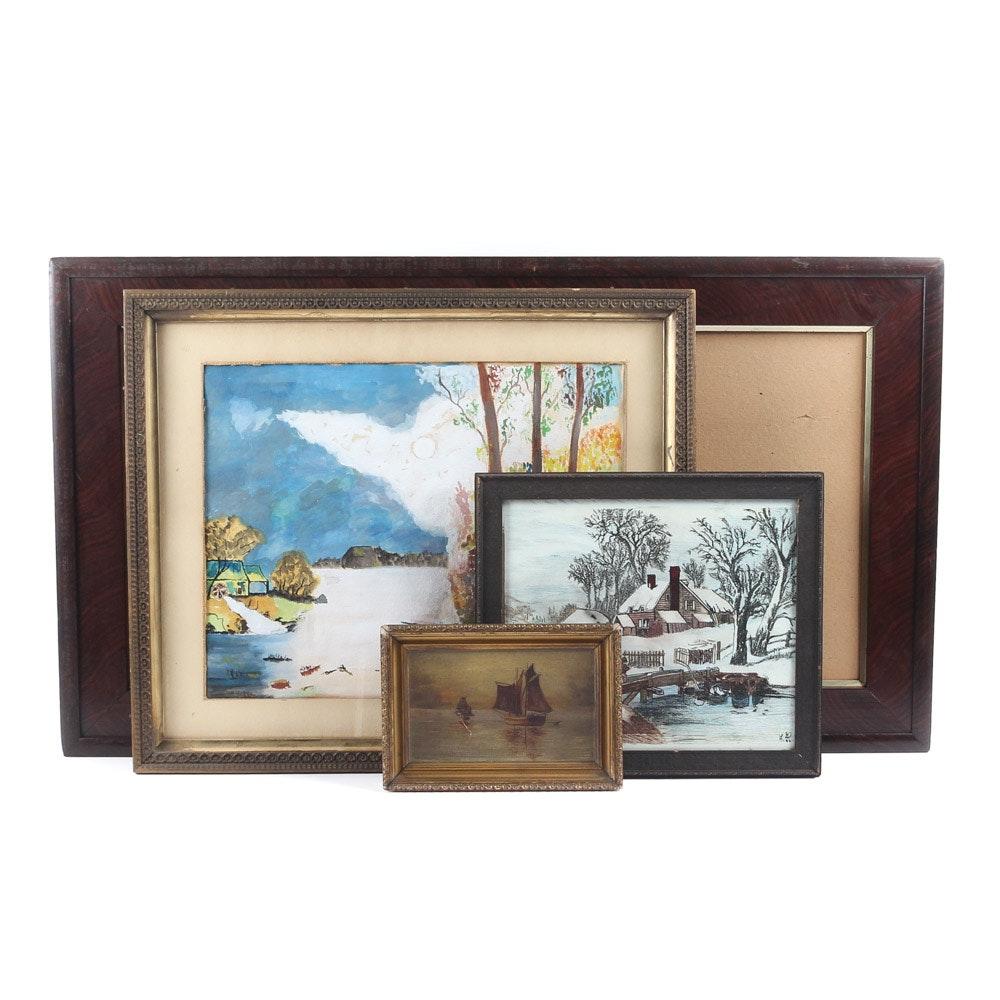 Vintage Frames and Original Artwork