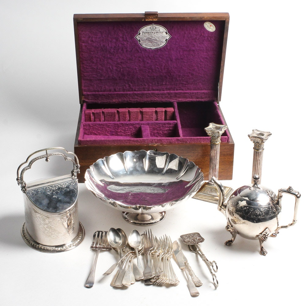 Antique and Vintage Silver Plate Serveware and Flatware