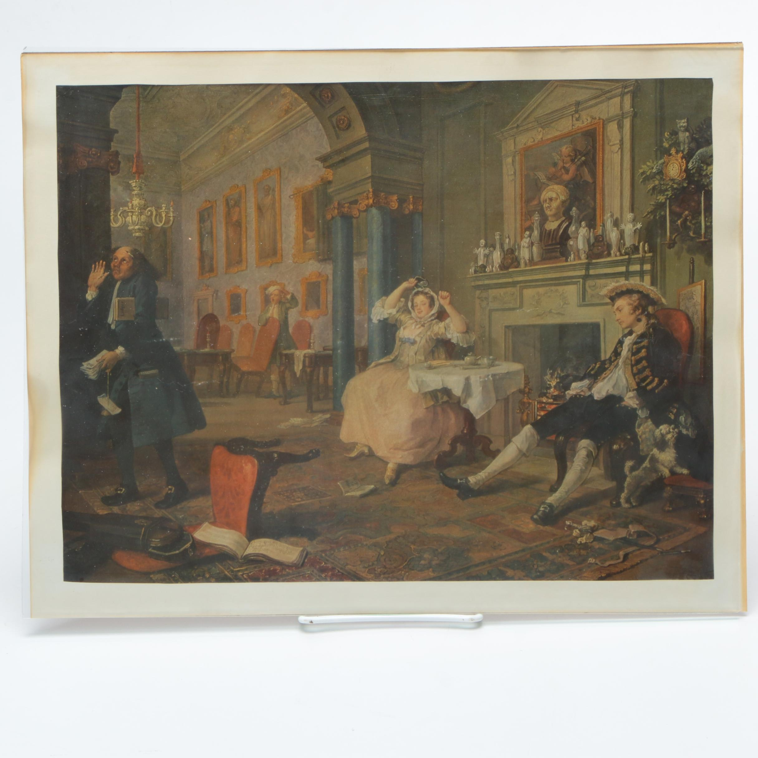 "After William Hogarth Offset Lithograph ""Marriage A-la-Mode: 2"""