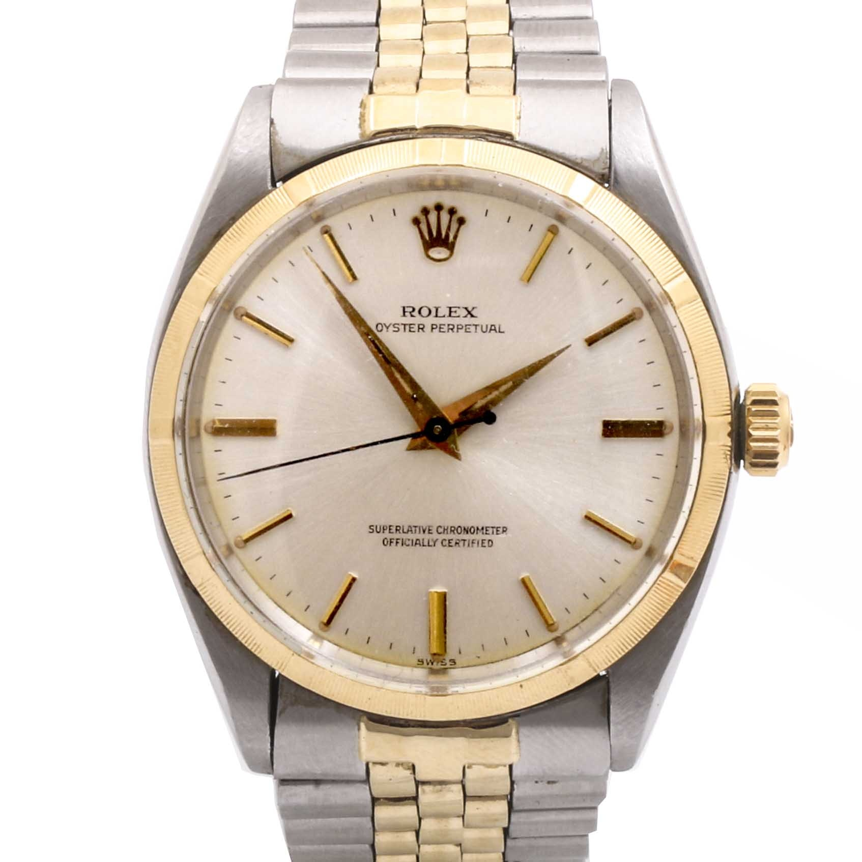 Rolex Oyster Perpetual Chronometer 14K Yellow Gold and Stainless Steel Wristwatch