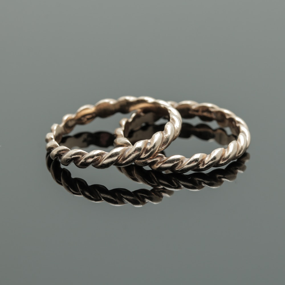 14K Yellow Gold Rope Bands