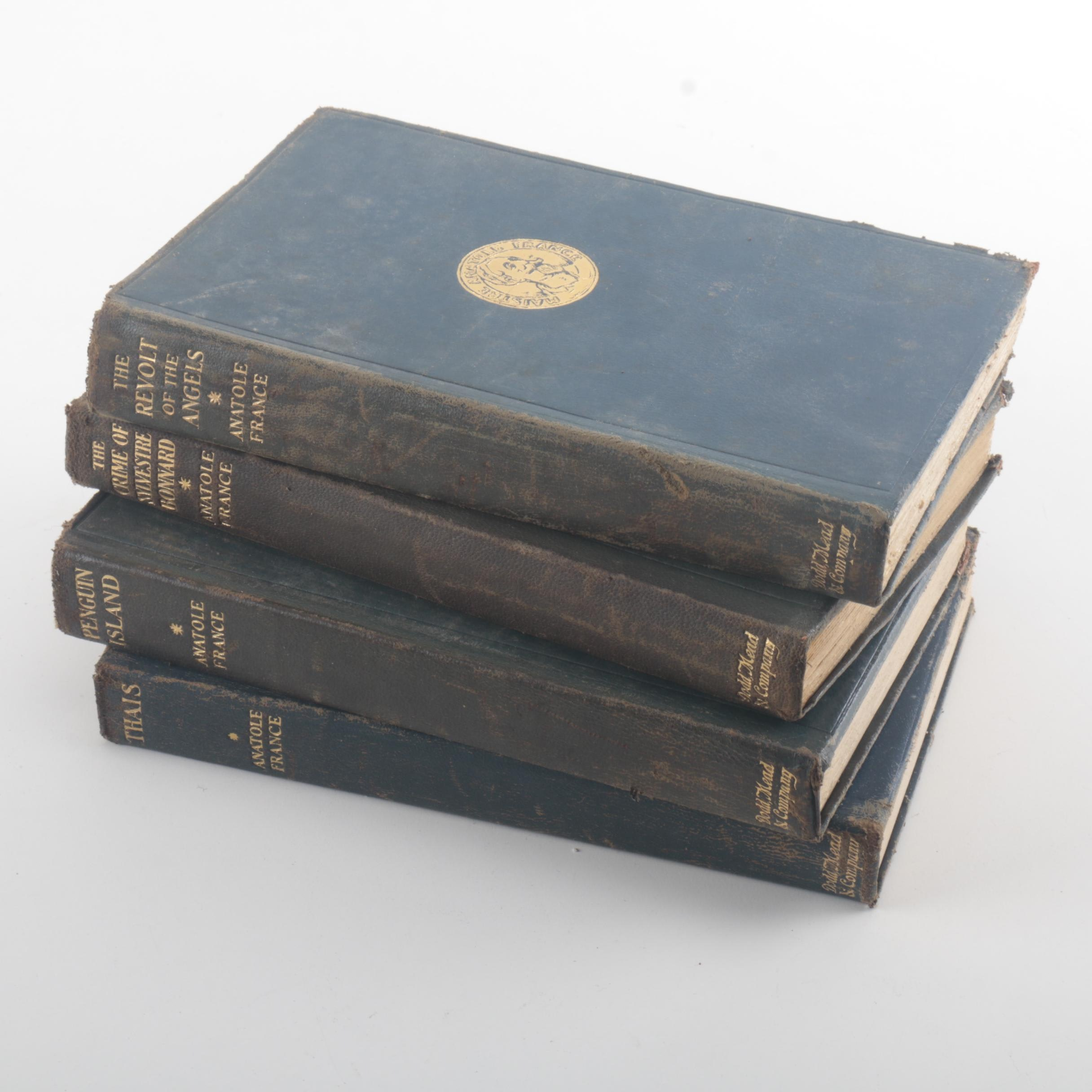 1922 Assorted Leather Bound Books by Anatole France