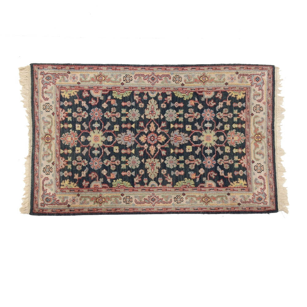 Indo-Persian Hand Woven Wool Accent Rug