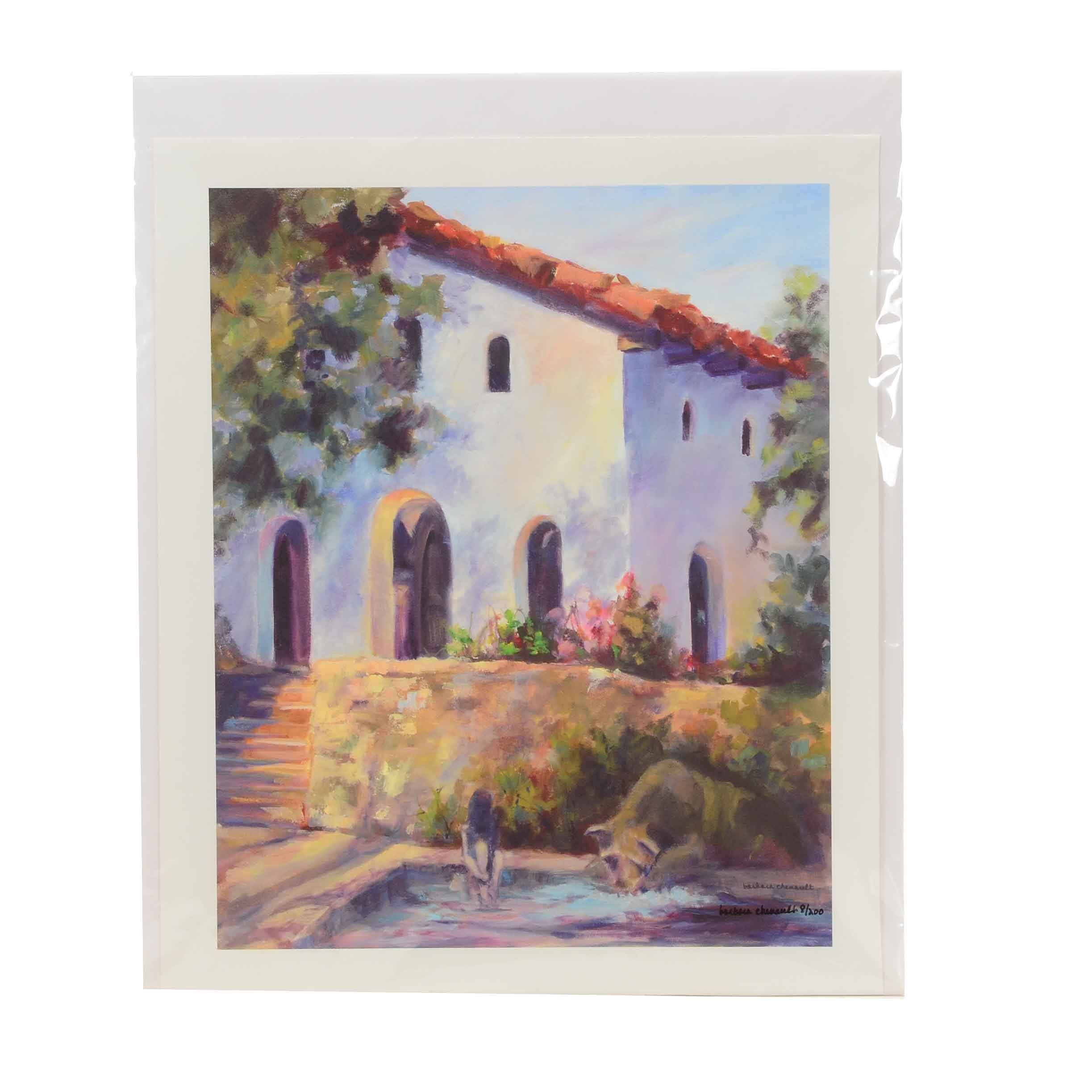 "Barbara Chenault Signed Limited Edition Giclee on Canvas ""Old Mission Church"""