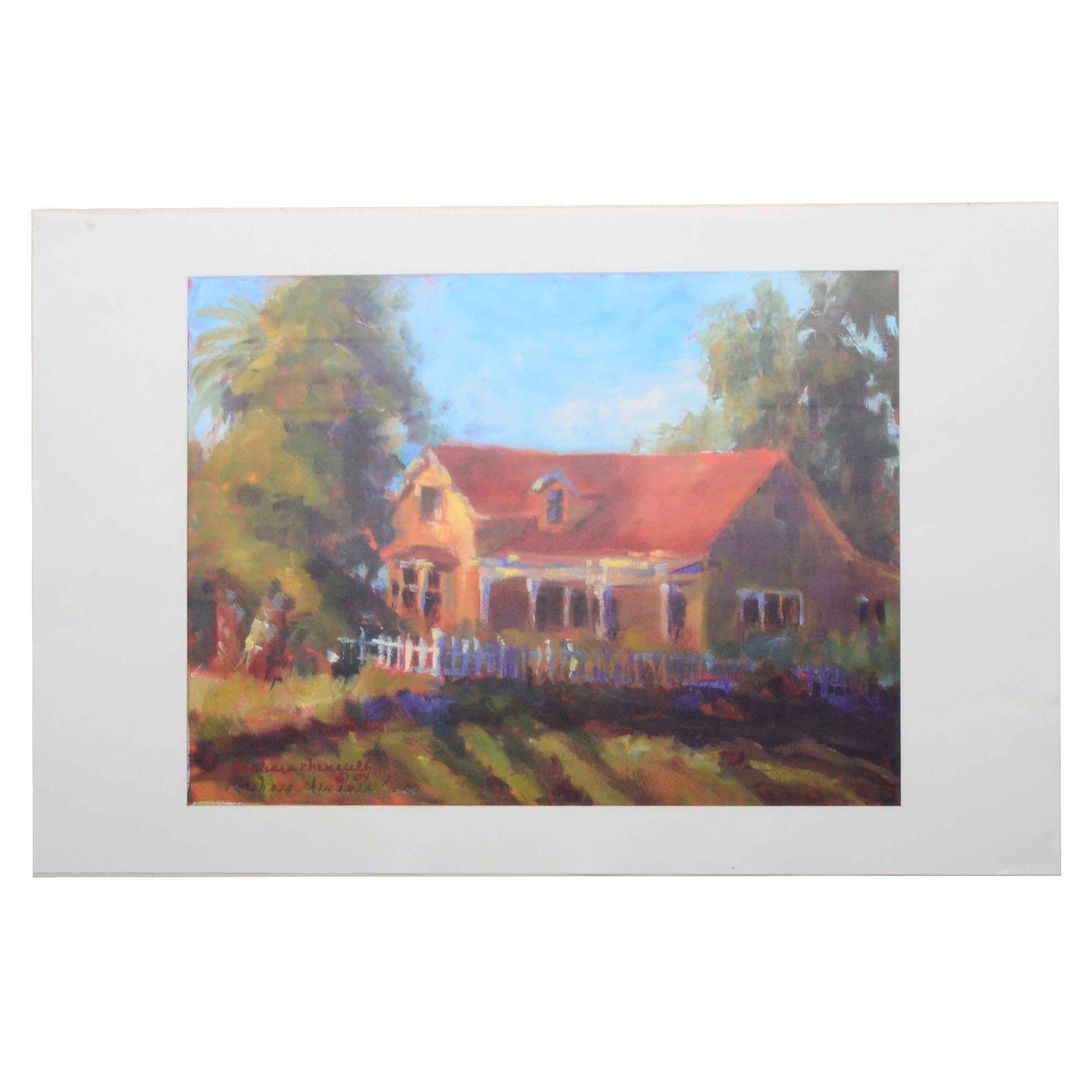 Barbara Chenault Signed Limited Edition Offset Lithograph