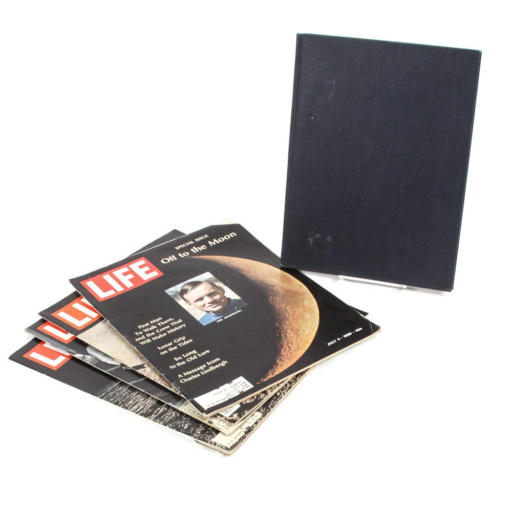 """Footprint On The Moon"" Book and ""Life"" Magazines"