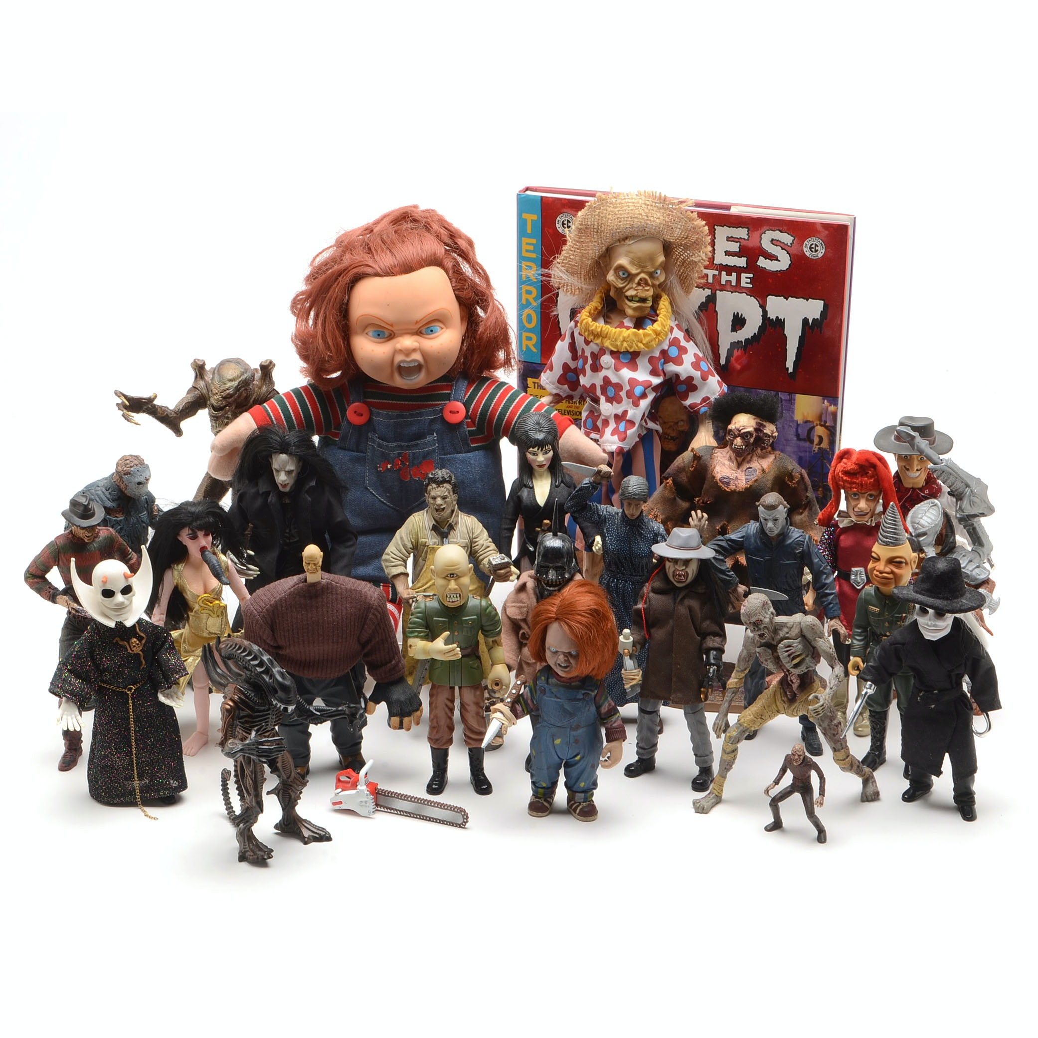 Collection of Horror Movie Action Figures