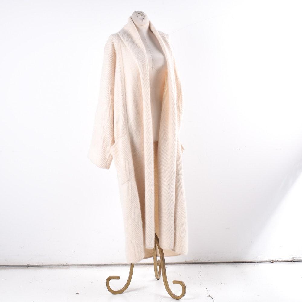 Vintage Antonella Orè Angora and Wool Full-Length Sweater