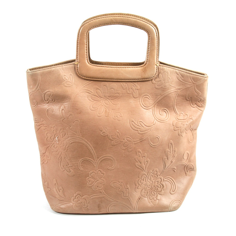 Fossil Stamped Leather Tote