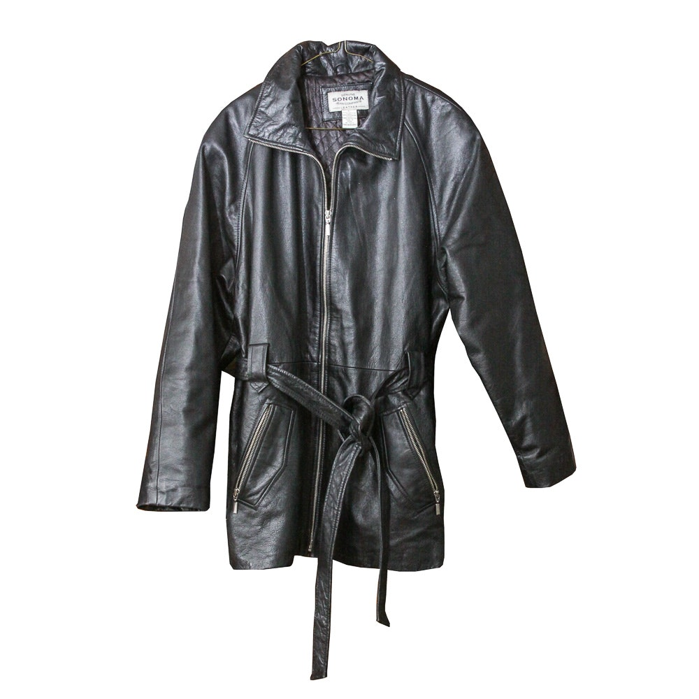 Sonoma Jean Company Women's Leather Coat