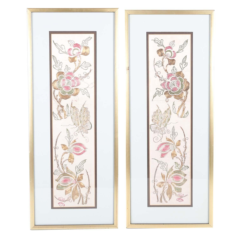 Ebroidered Silk Tapestries