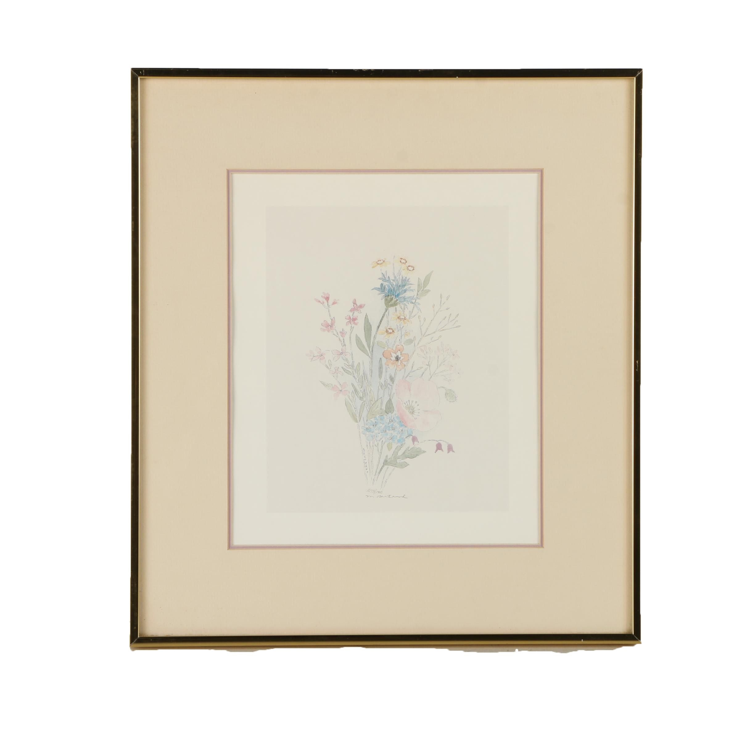 Mary Bertrand Limited Edition Offset Lithograph of a Bouquet