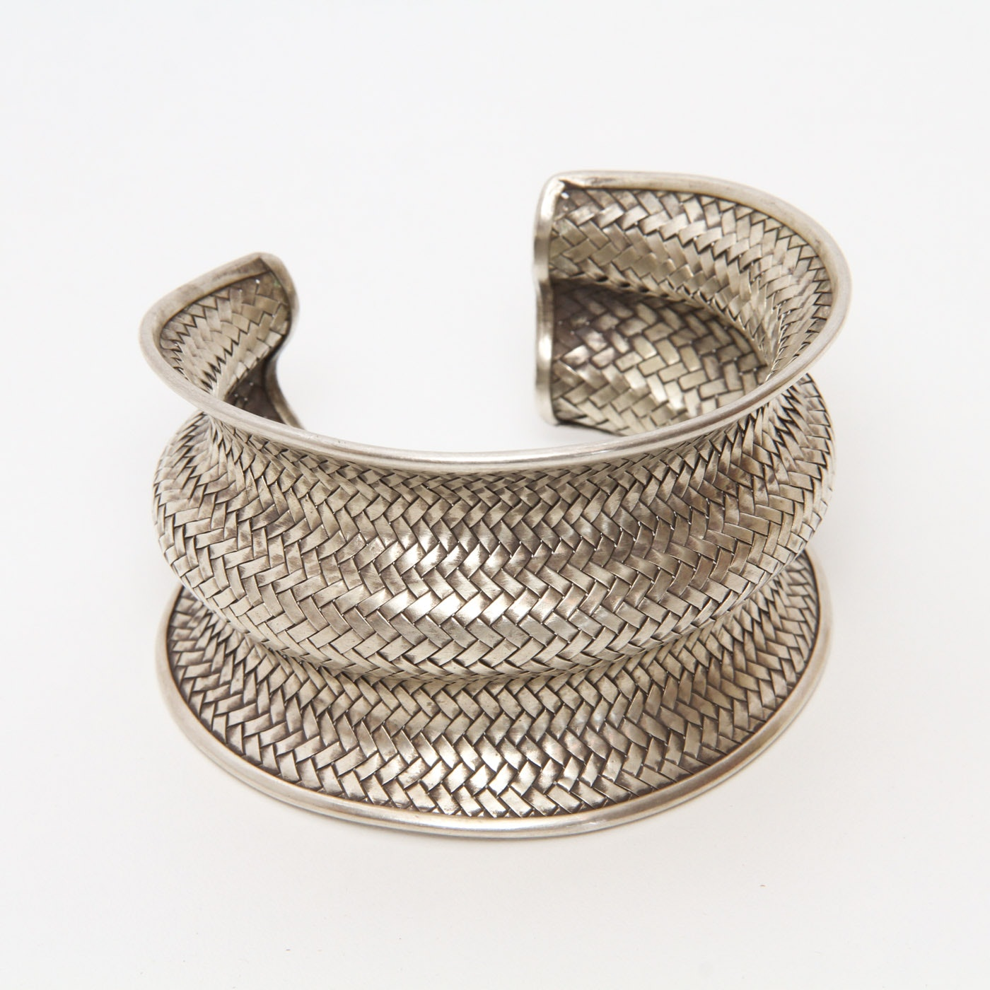 Vintage Woven Sterling Silver Cuff
