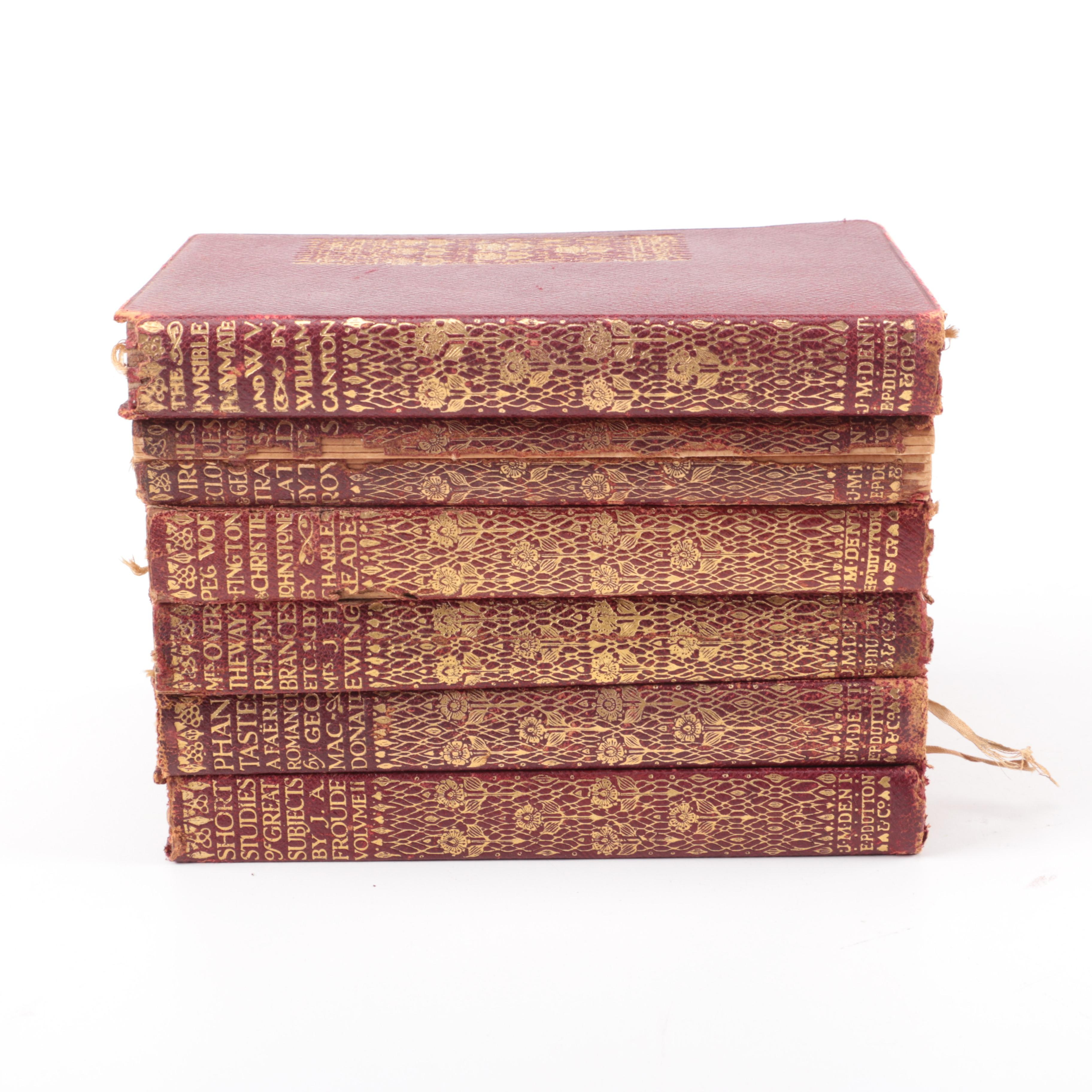 Early Twentieth Century Collection of Everyman's Library Leather Bound Books