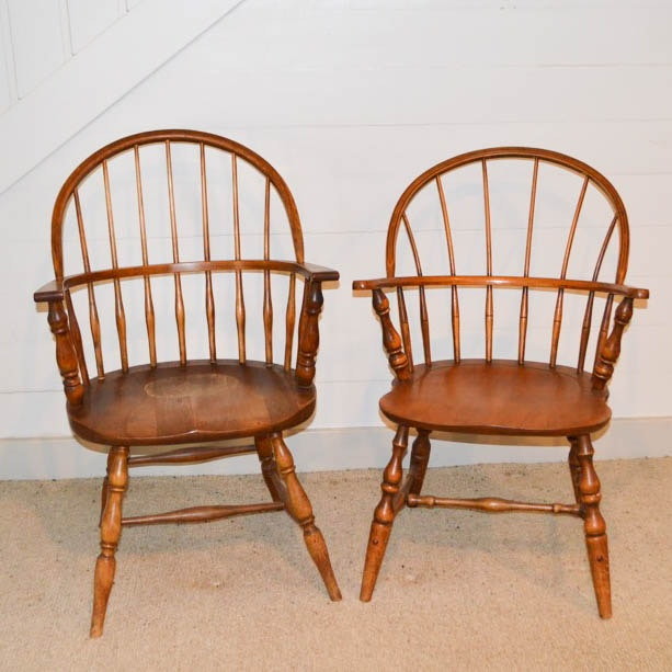 Pair of Windsor Style Armchairs