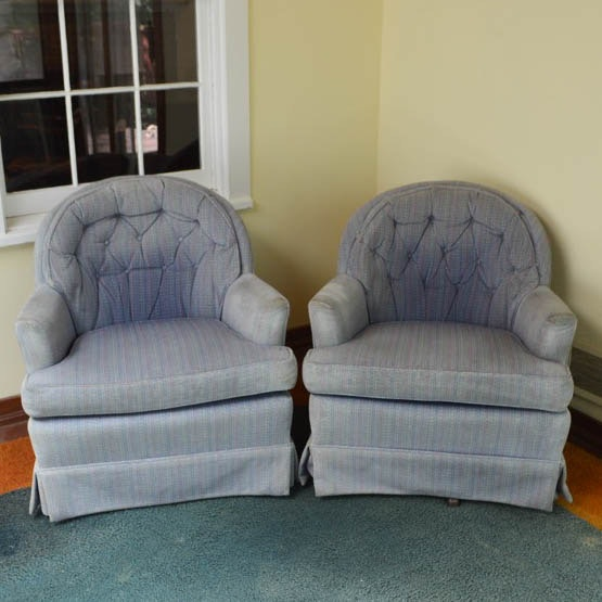 Pair of Barrel Back Accent Chairs