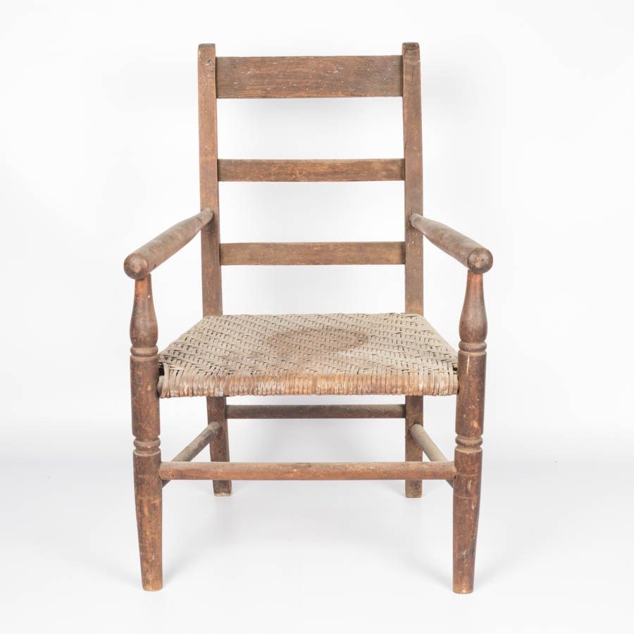 Vintage Ladderback Doll Chair