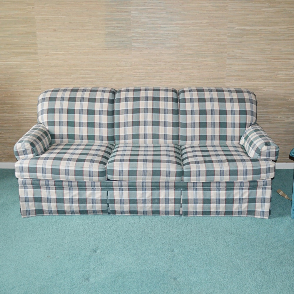 Plaid Sleeper Sofa