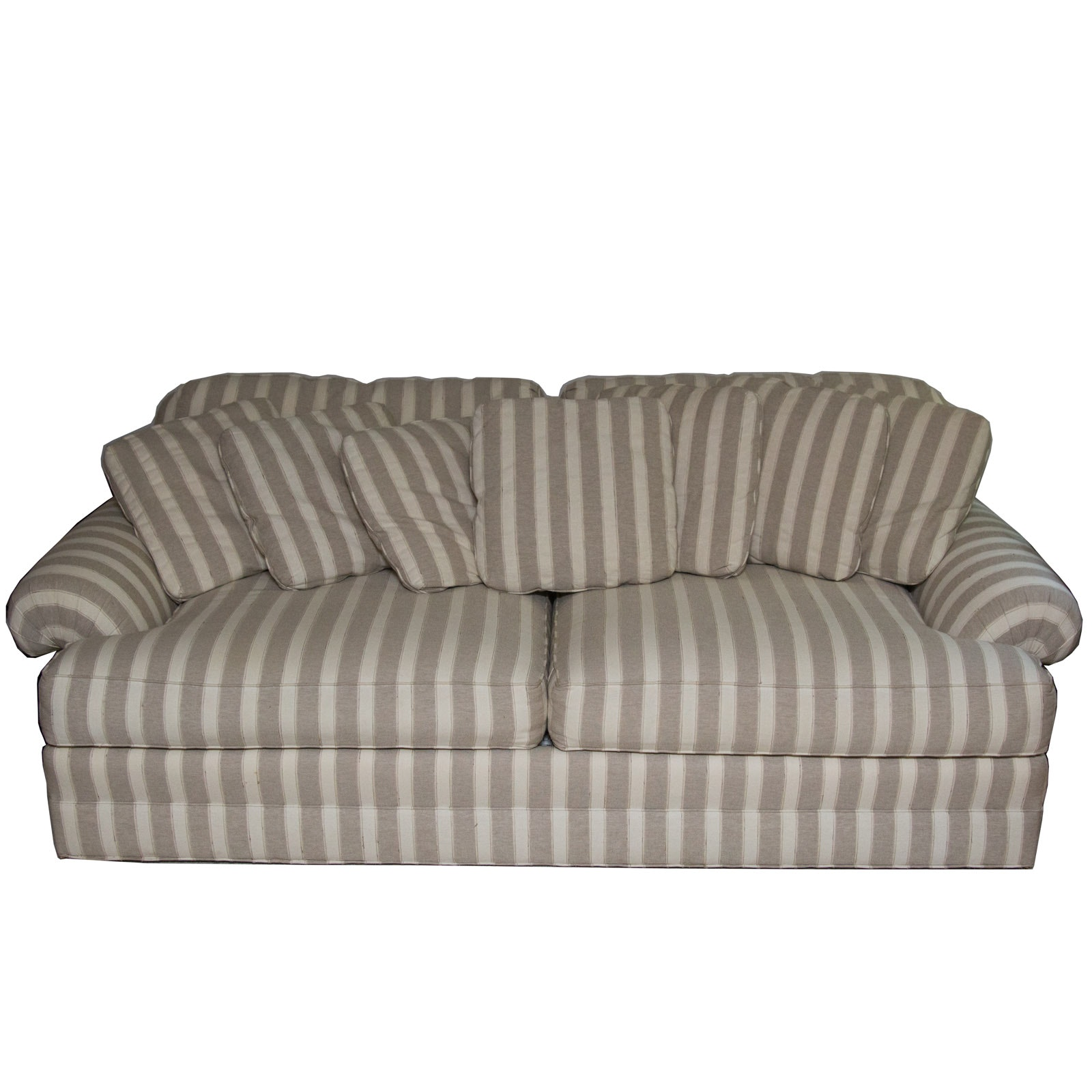 Sherrill Oversized Striped Loveseat