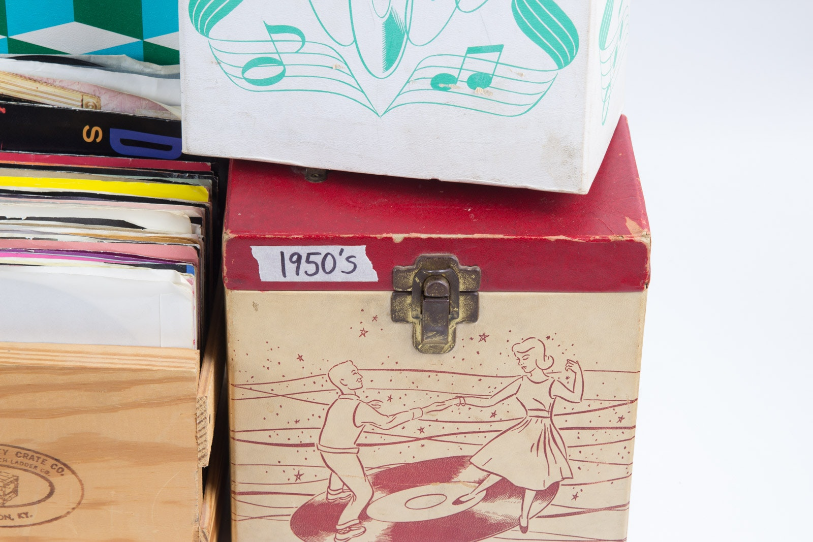 Rock Pop Singles And Vintage Storage Boxes Ebth