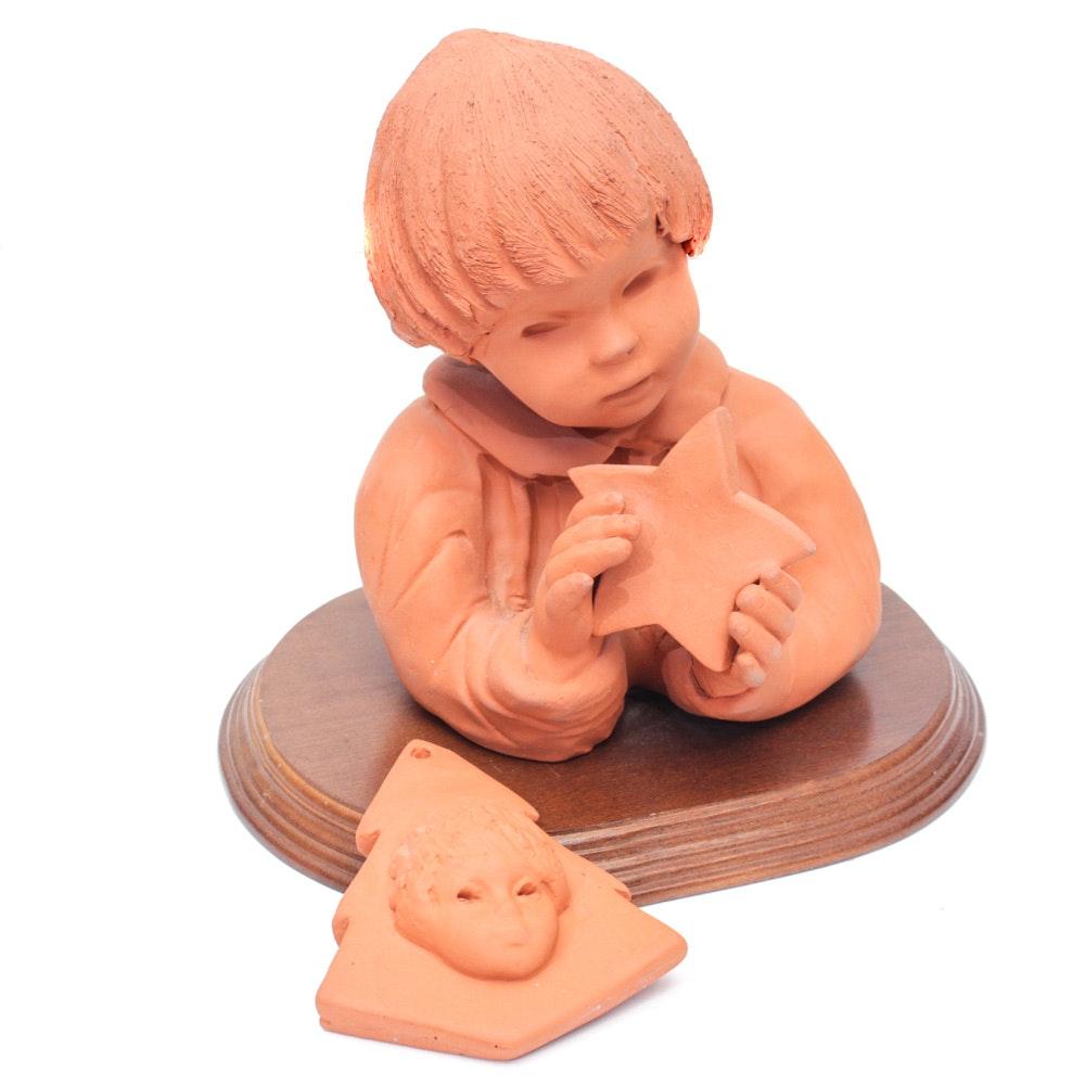 Ann Entis Sculpture with Ornament