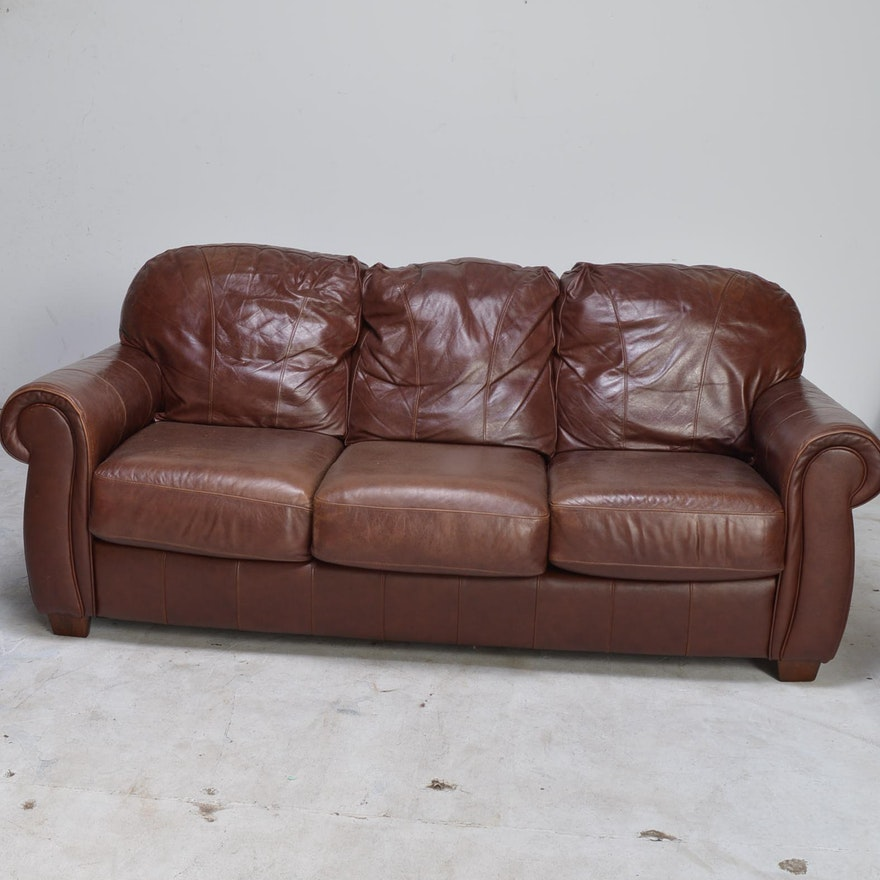 Lane furniture leather sofa or loveseat ebth for Leather sectional sofa lane