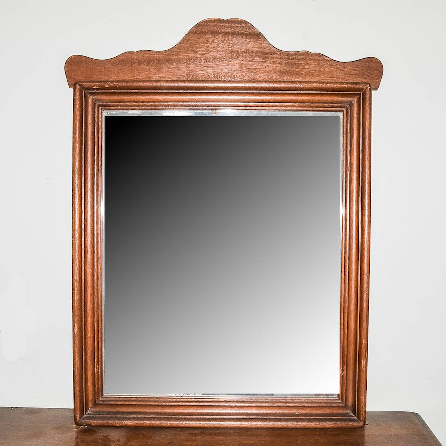 Vintage Wooden Wall Mirror