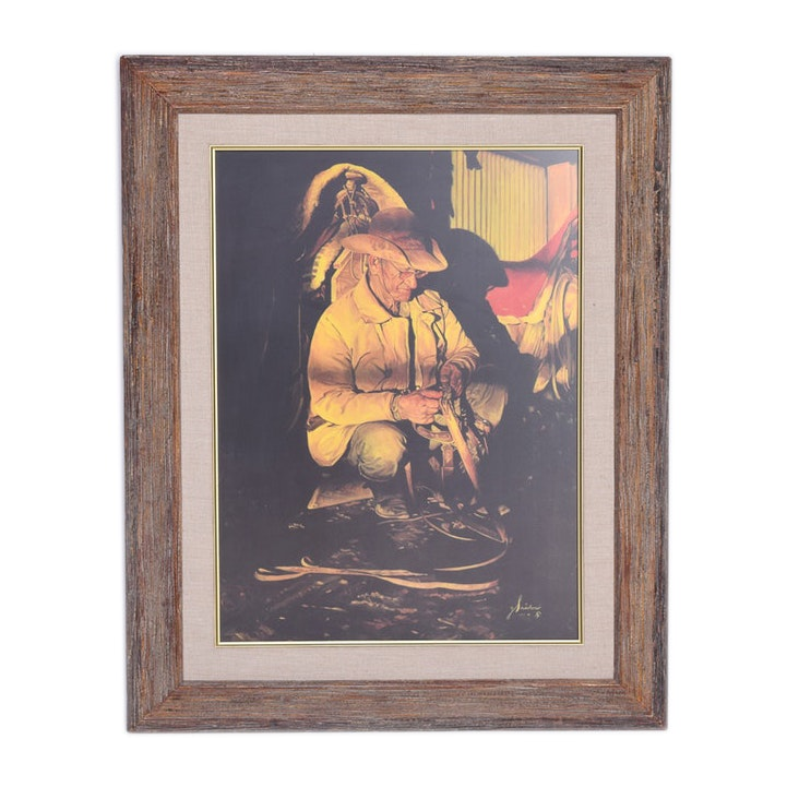Vintage Limited Edition Gordon Snidow Black Box Collotype in Frame