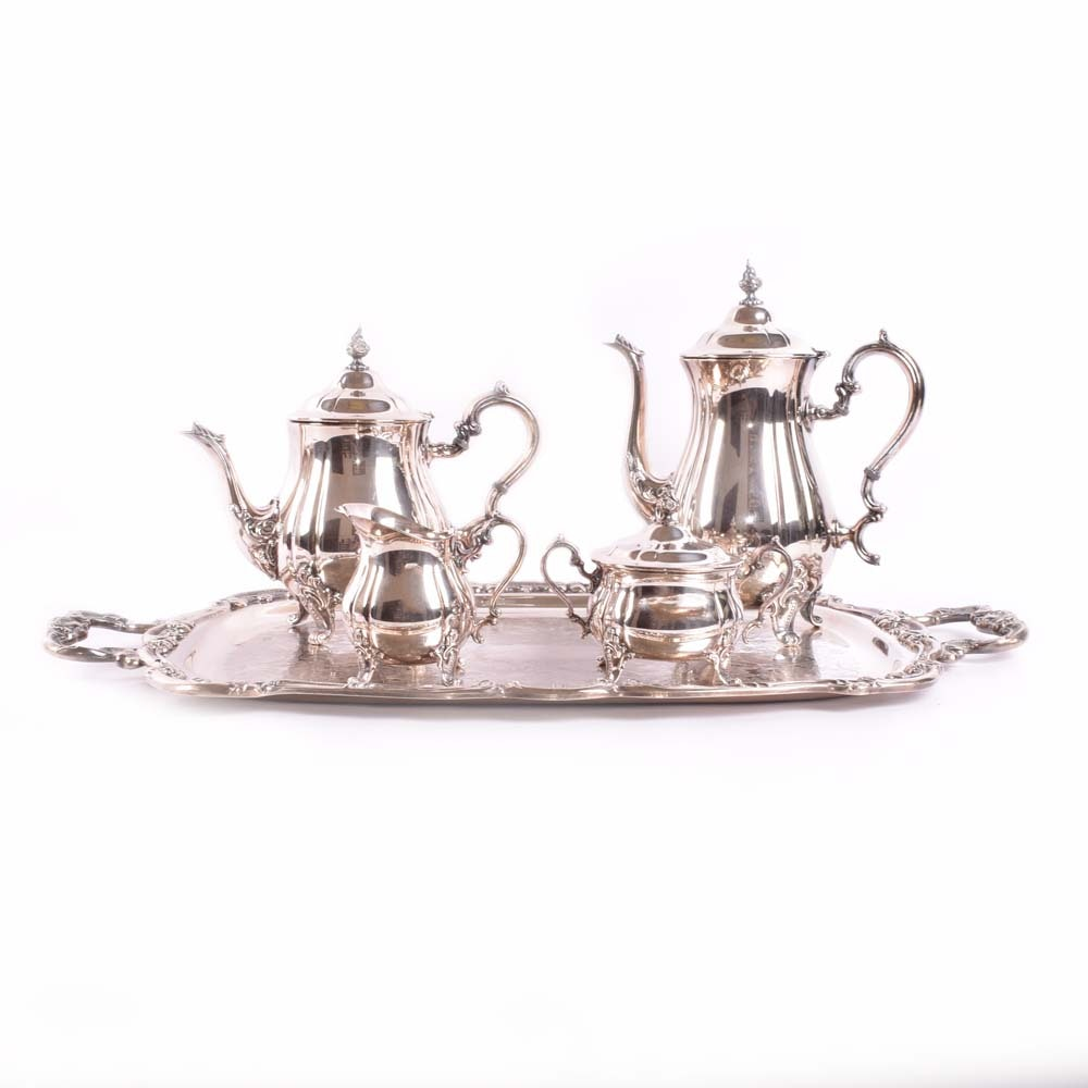 "Gorham ""Heritage"" Silver Plated Tea and Coffee Service"