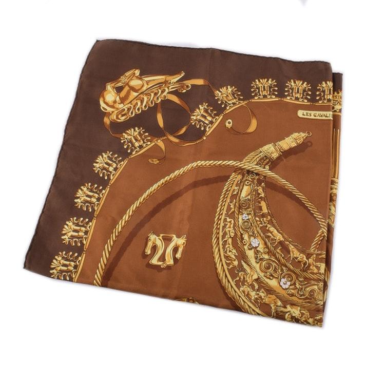 "Hermès Silk Scarf ""Les Cavaliers D'Or"""