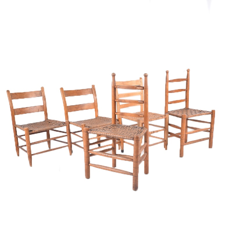 Ladder Back Chairs With Woven Seats ...