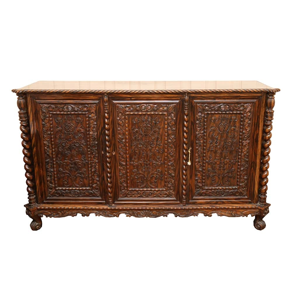 Large Carved Mahogany Buffet