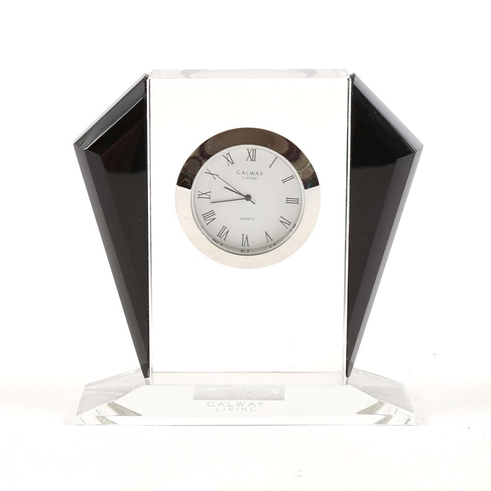 Art Deco Style Crystal Clock by Galway Living