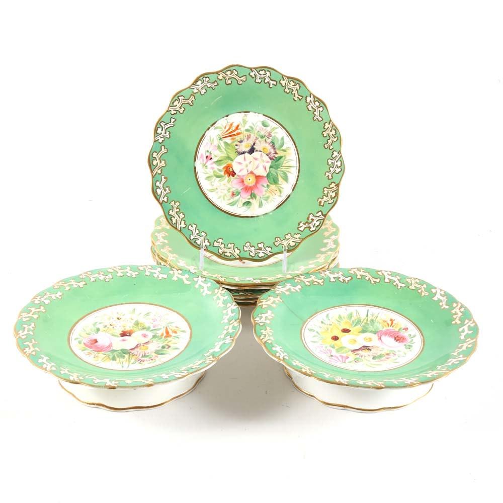19th Century Porcelain Dessert Service