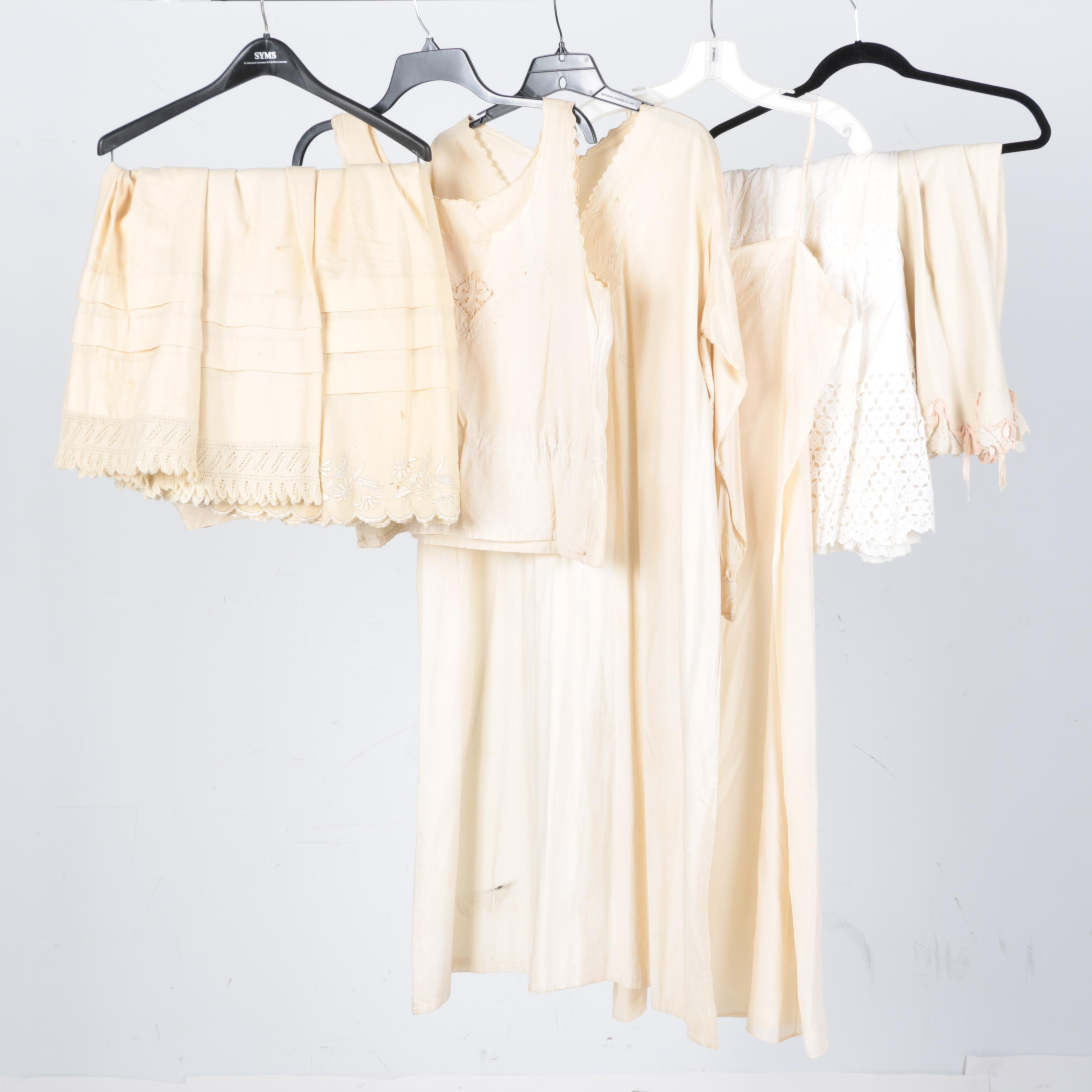 Ivory and White Cotton Clothing Including Franklin Simon's