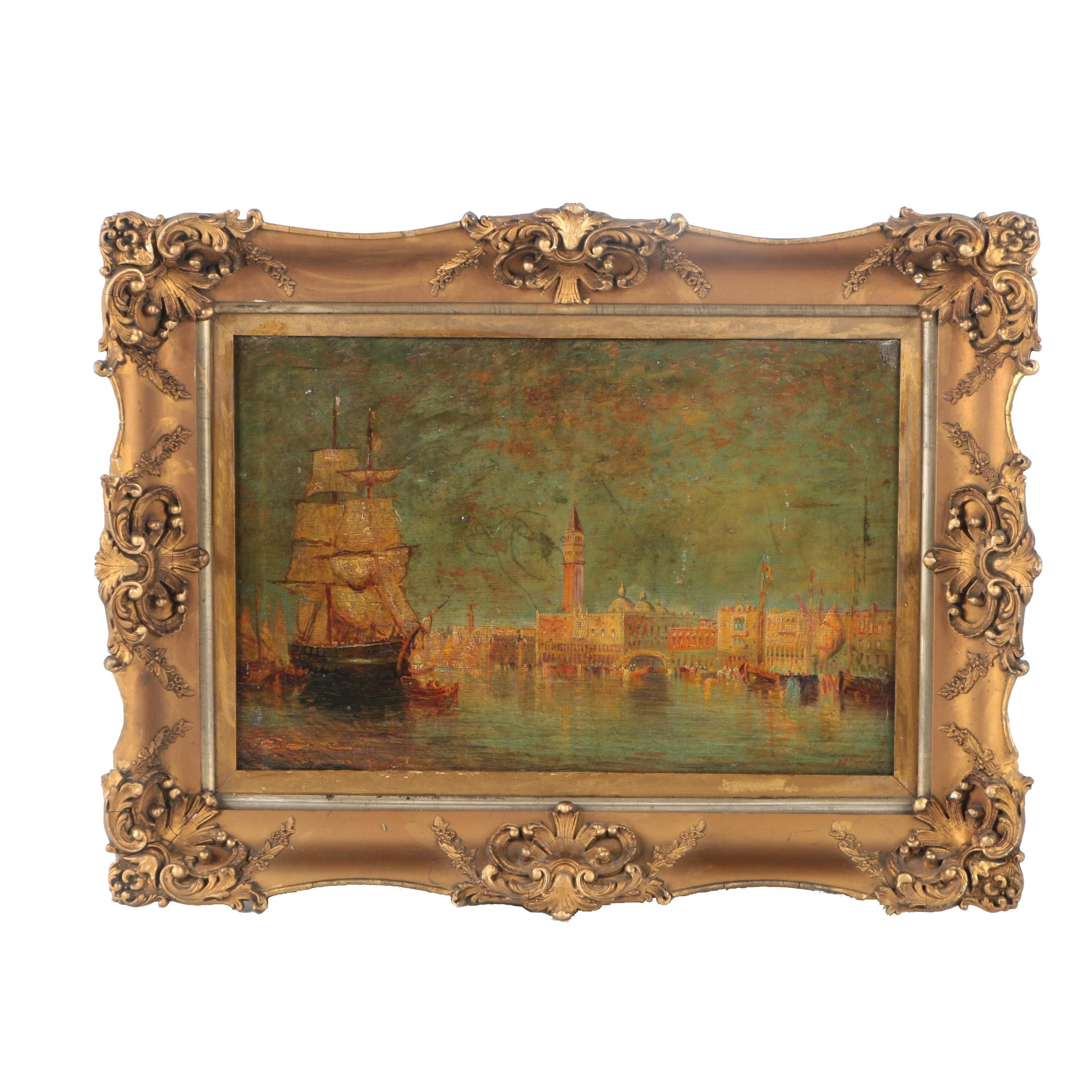 Oil Painting on Canvas of the Grand Canal
