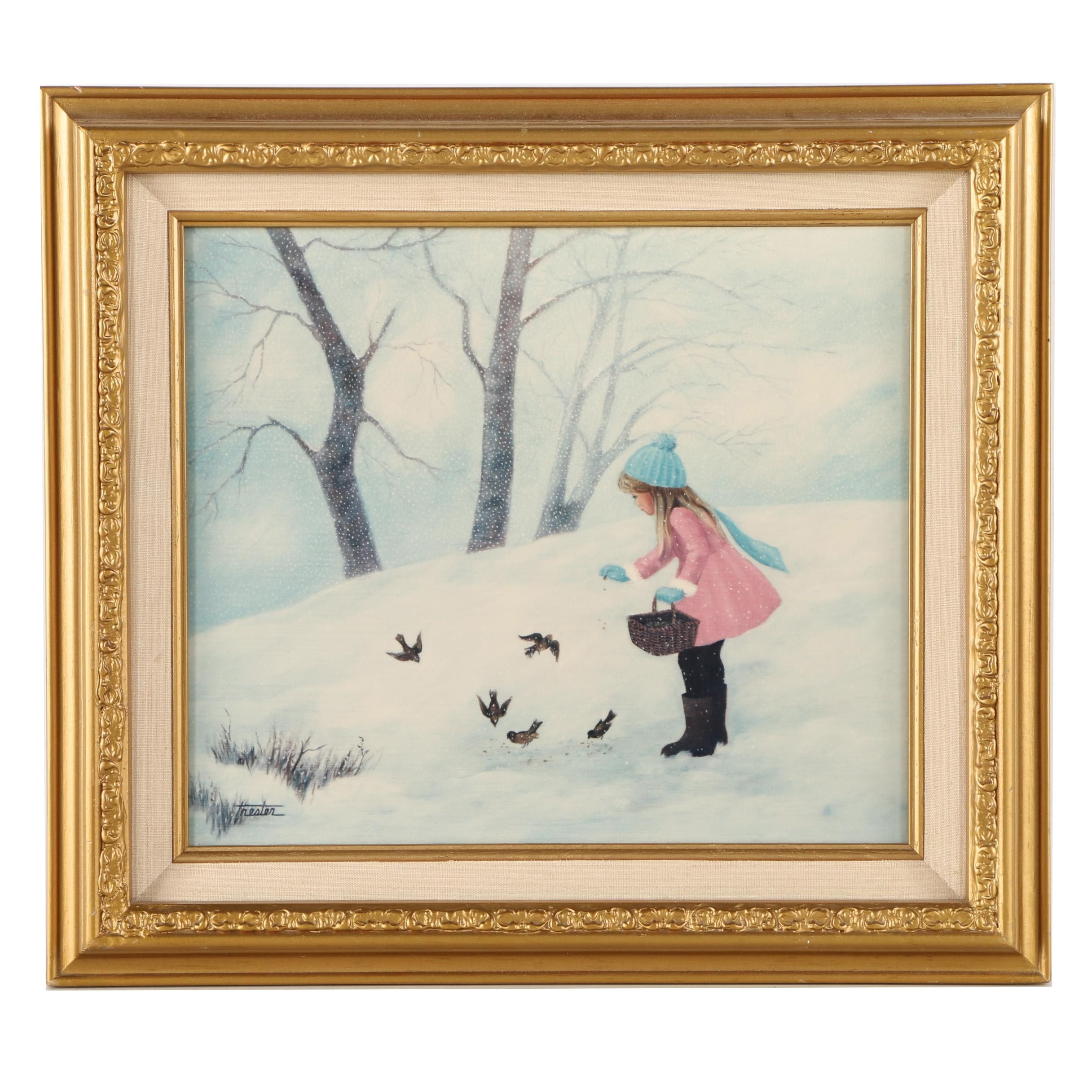 "After Lorraine Trester Limited Edition Giclee Print ""First Snow"""