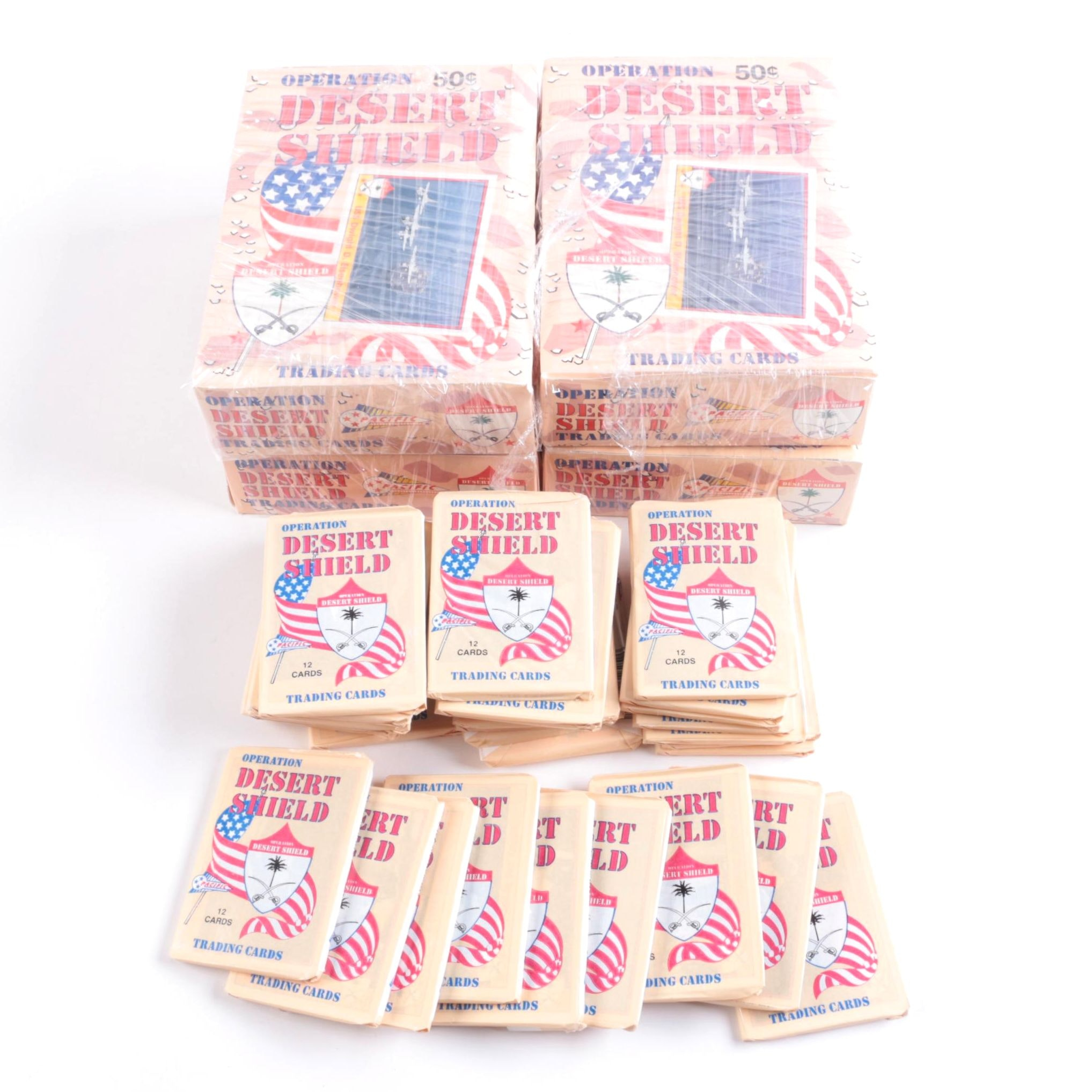 """Pacific 1990s """"Operation Desert Shield"""" Packaged Trading Cards"""