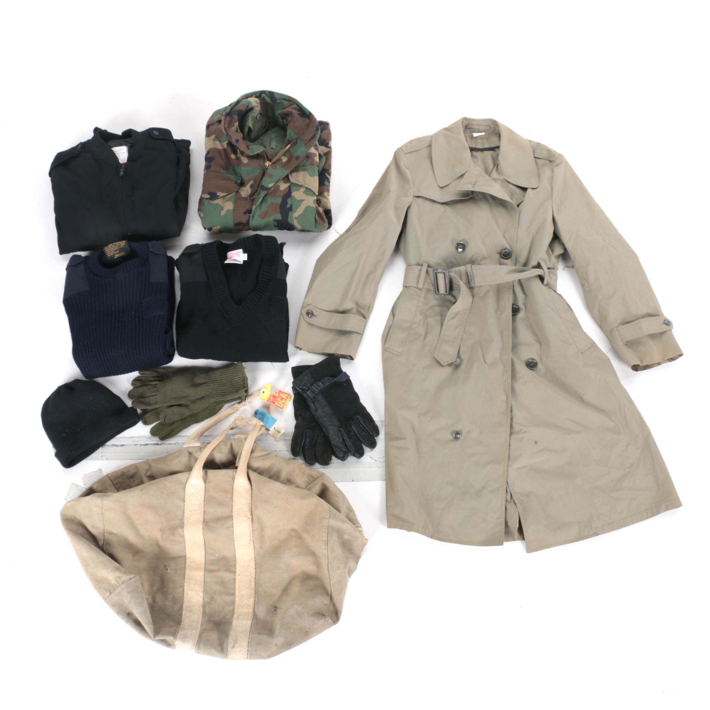 Military Clothing Assortment and Duffel
