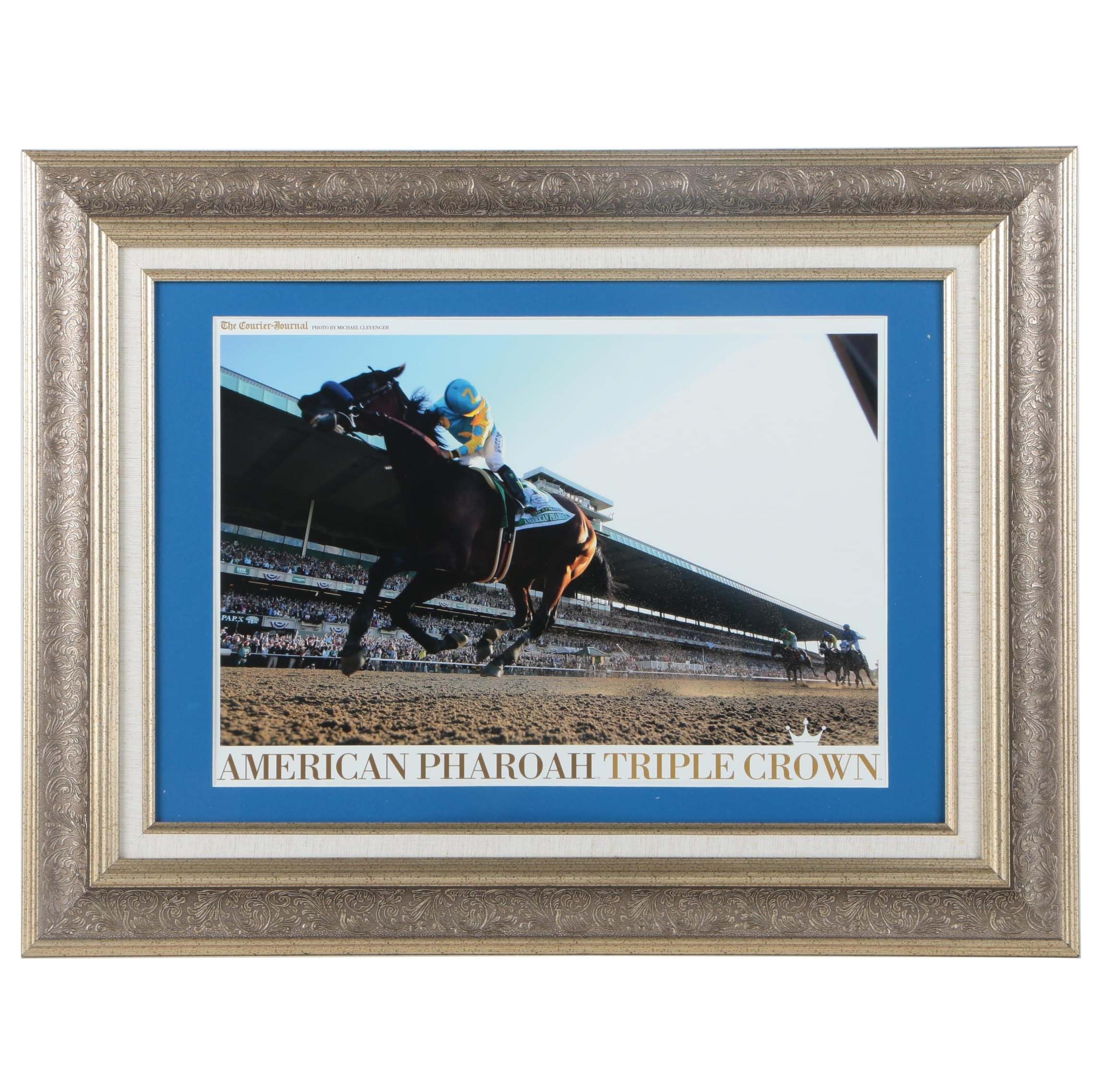 "Offset Lithograph After Michael Clevenger's Photograph ""American Pharoah Triple Crown"""