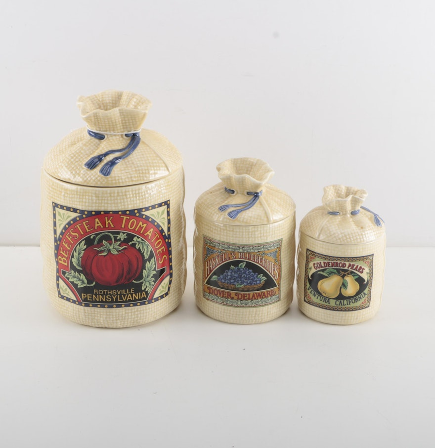 vintage ceramic canister set by hearth and home designs ebth