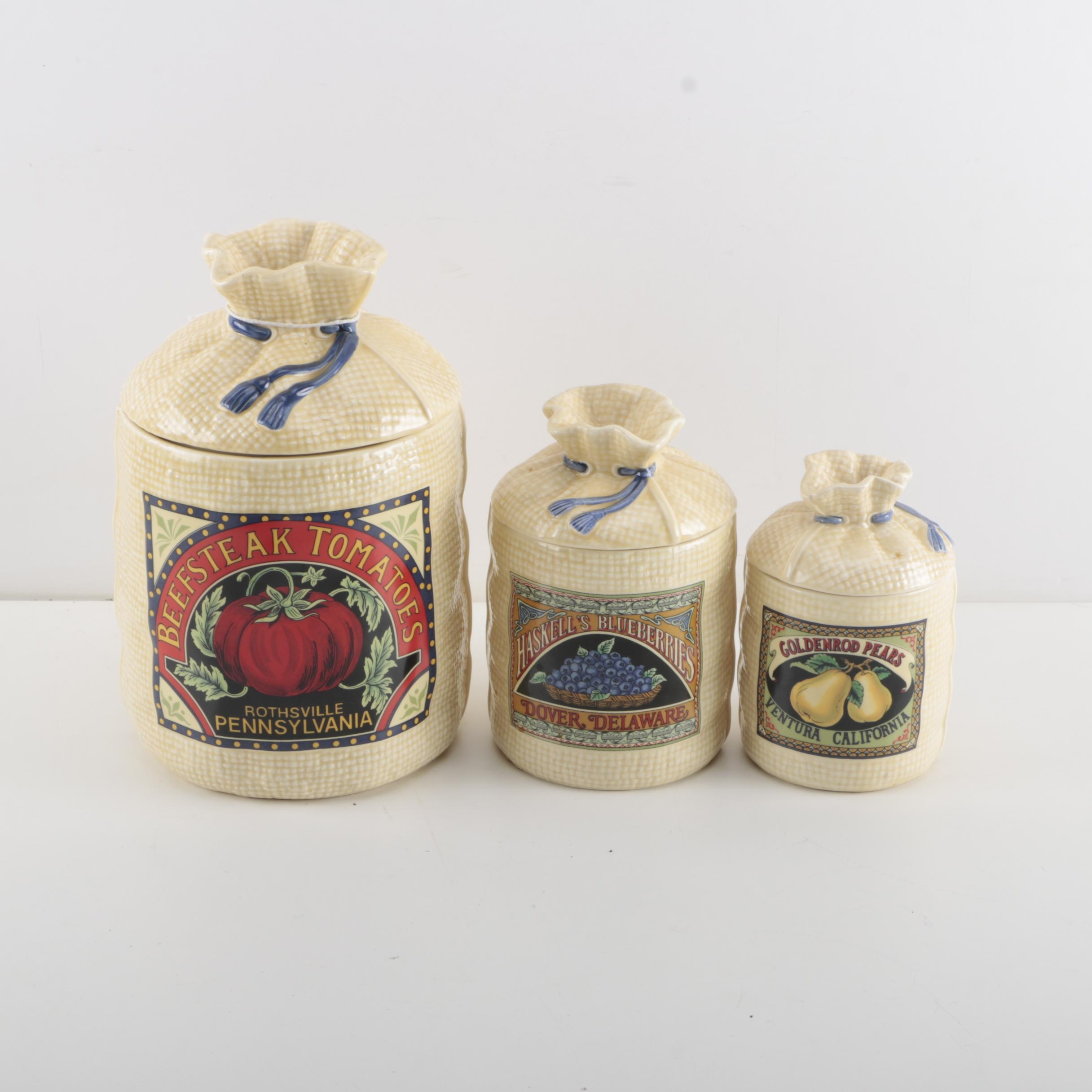 Exceptional Vintage Ceramic Canister Set By Hearth And Home Designs ...