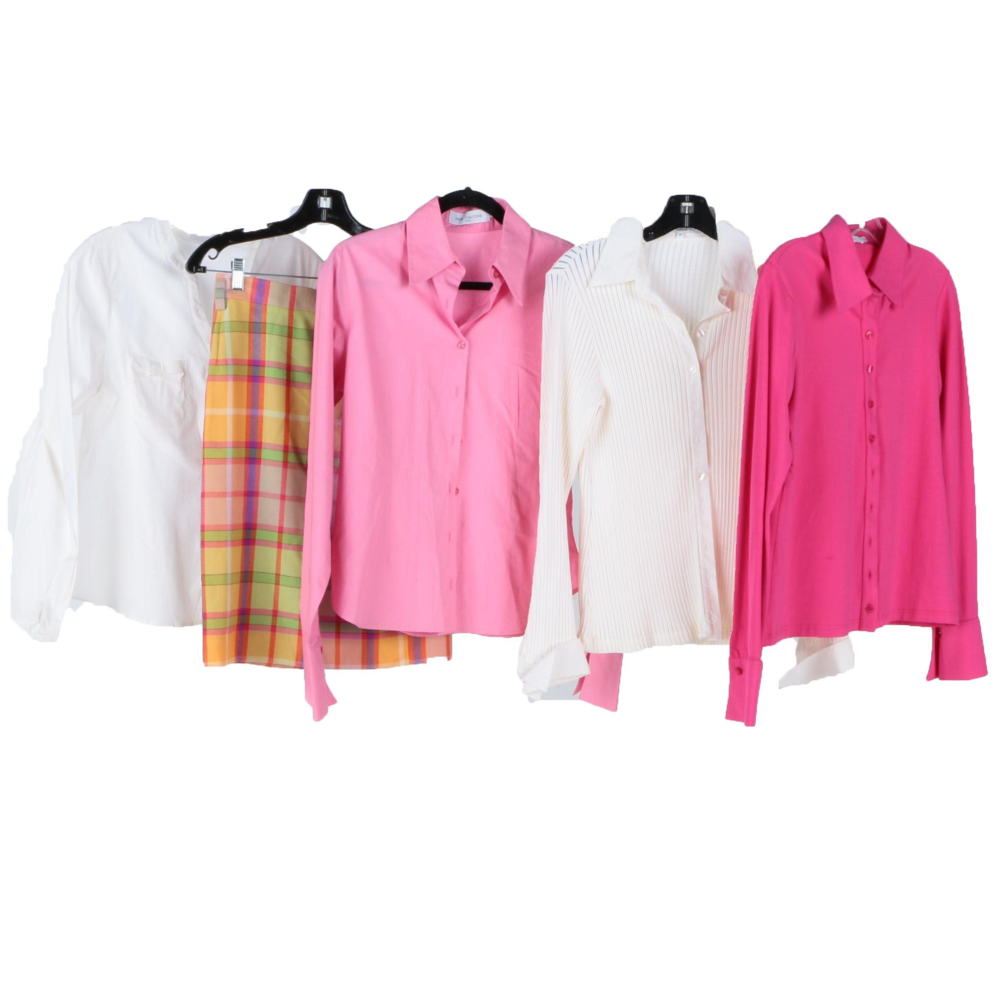 Anne Fontaine Shirts and Laurèl Wool Skirt