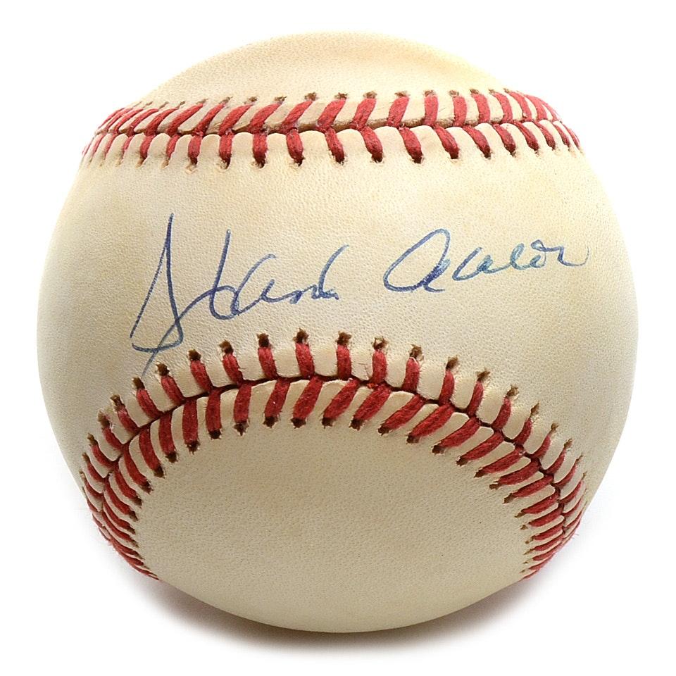 Hank Aaron Signed National League Baseball JSA