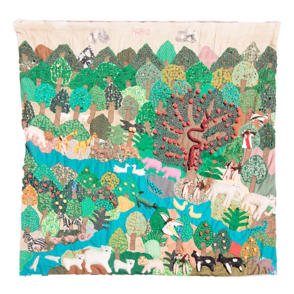 Garden of Eden Hand Sewn Textile