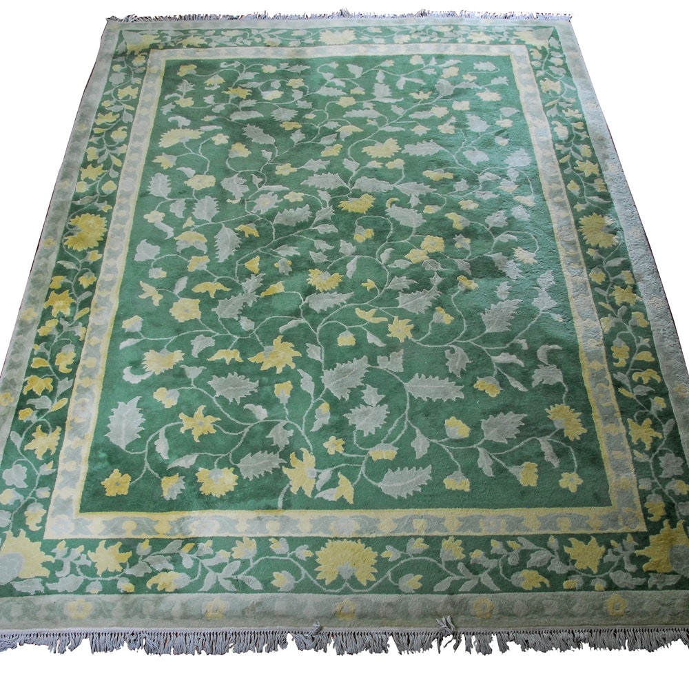 Power Loomed Chindia Indian Floral Area Rug
