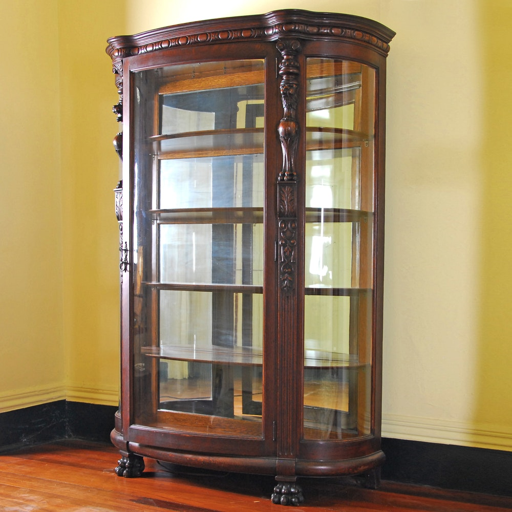 Exceptionnel Vintage Glass Front Display Cabinet ...
