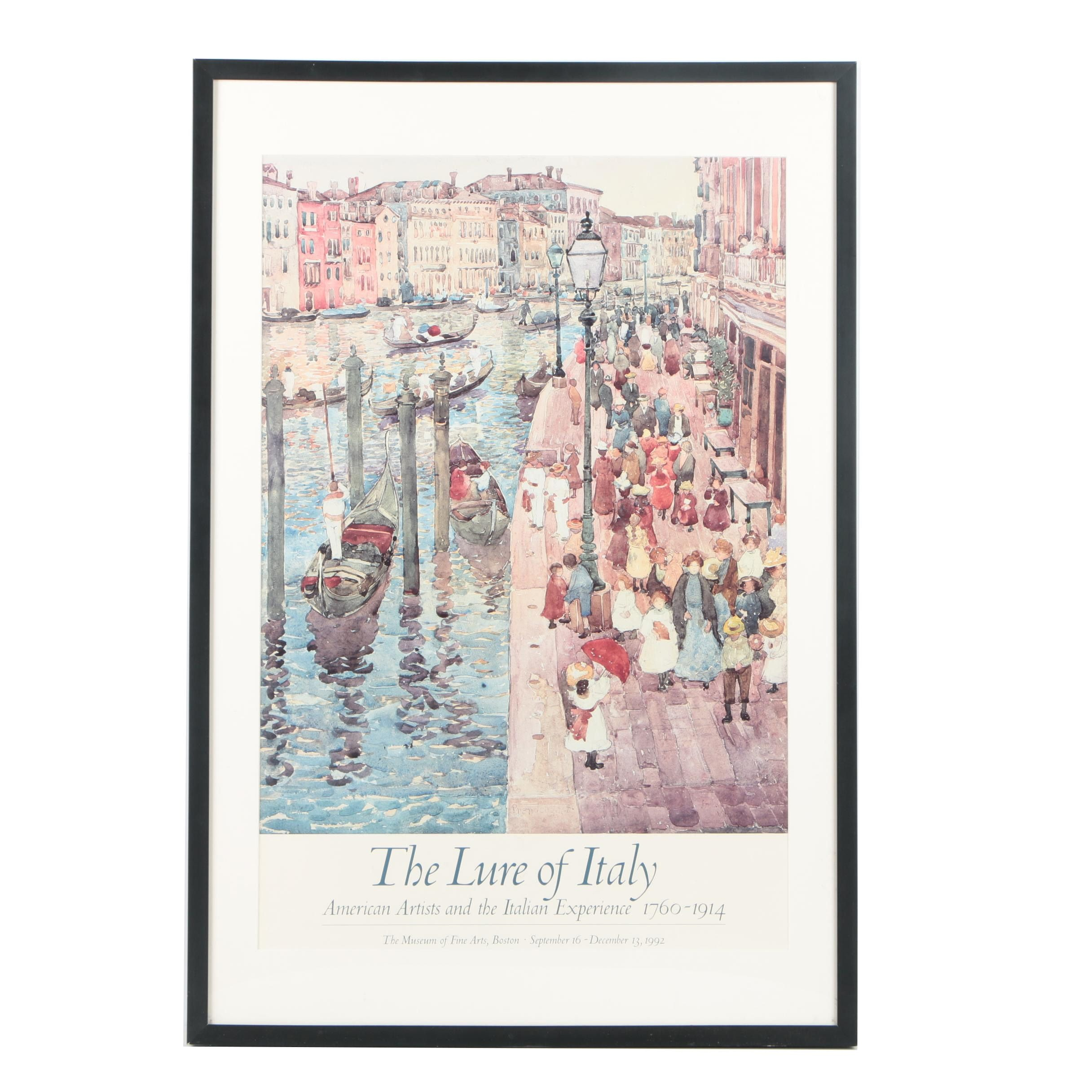 "1992 MFA ""The Lure of Italy"" Exhibition Poster After Maurice Prendergast"