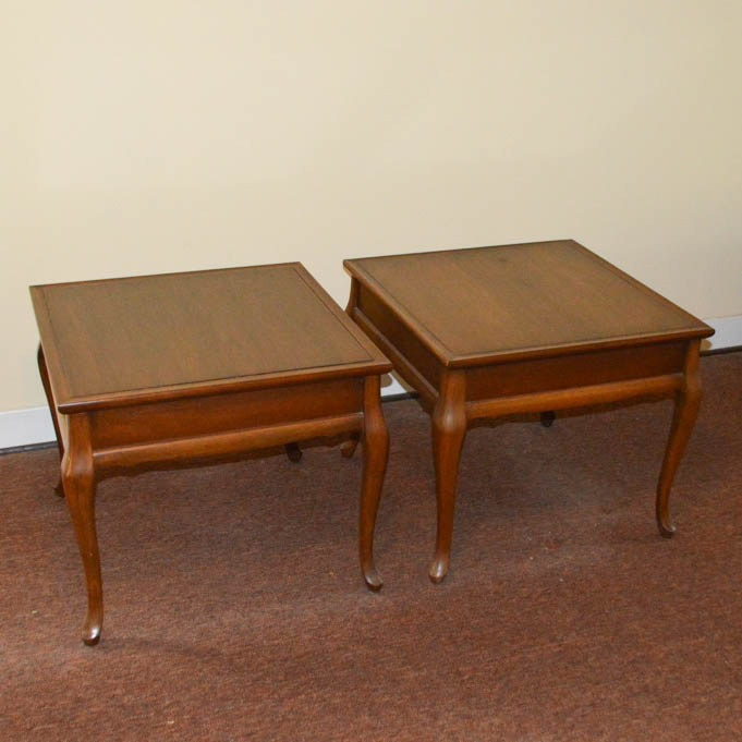 Pair of Queen Anne Style Side Tables