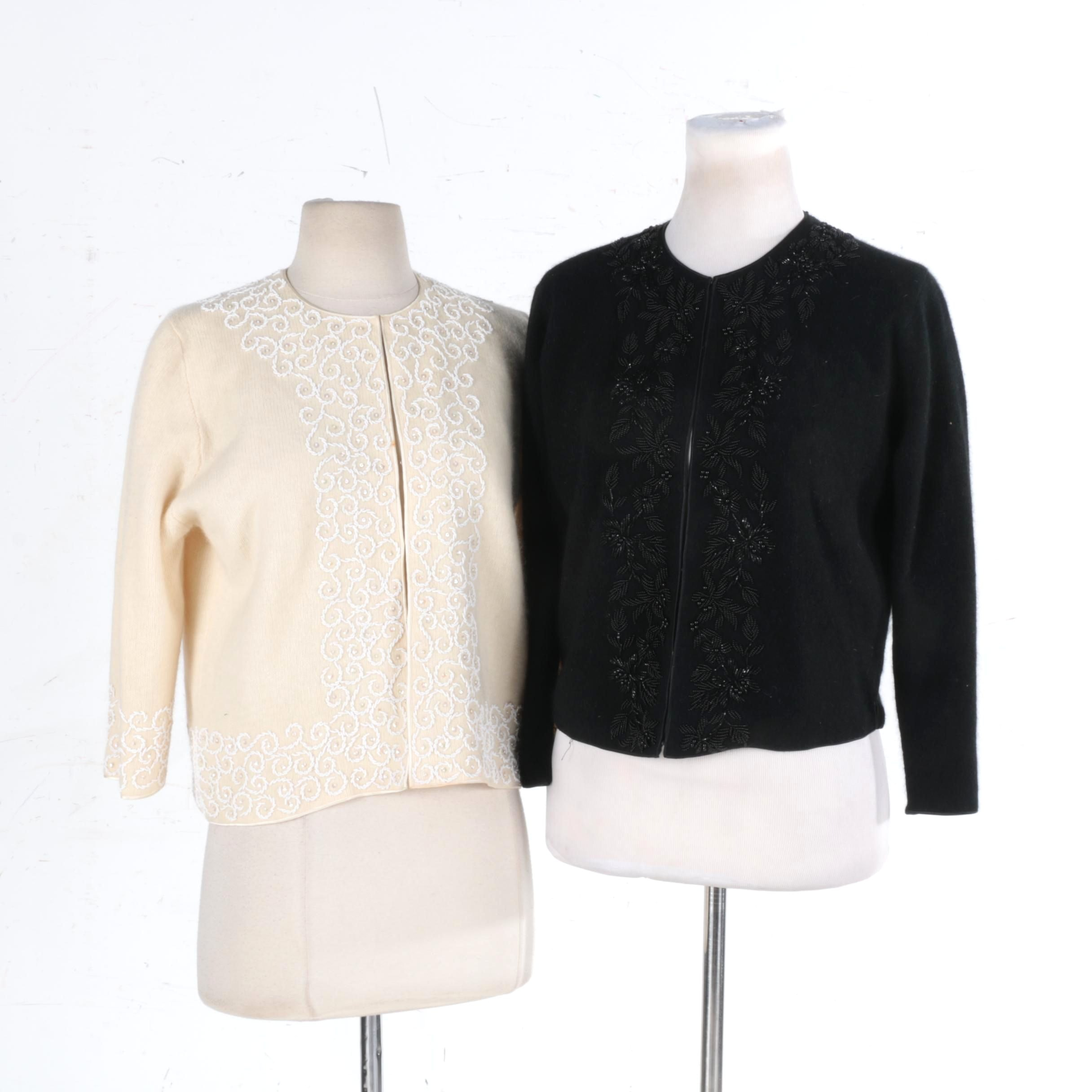 Cardigans with Beaded Embroidery Including Jacqueline Co.